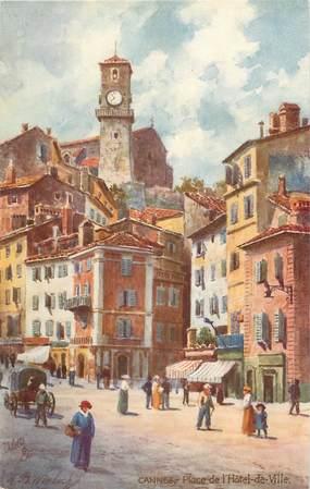 """CPA """"Cannes, Place de l'Hotel de ville"""" / TUCK"""