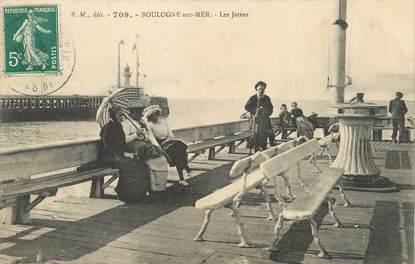"""/ CPA FRANCE 62 """"Boulogne sur Mer, les jetées"""""""