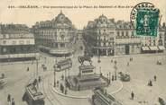 """45 Loiret / CPA FRANCE 45 """"Orléans, vue panoramique de la place du Martroi"""" / TRAMWAY"""