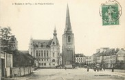 """35 Ille Et Vilaine / CPA FRANCE 35 """"Redon, la place Saint Sauveur"""""""