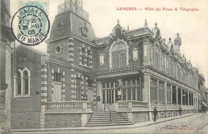 """/ CPA FRANCE 52 """"Langres, hôtel des postes et télégraphes"""""""