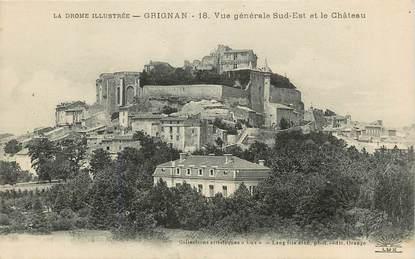 """CPA FRANCE 26 """"Grignan, vue générale sud est et le chateau"""""""