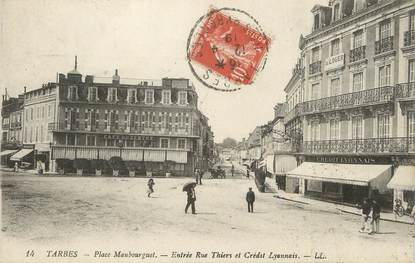 """/ CPA FRANCE 65 """"Tarbes, place Maubourguet"""""""