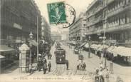 """59 Nord / CPA FRANCE 59 """"Lille, la rue Faidherbe et la Bourse"""" / TRAMWAY"""