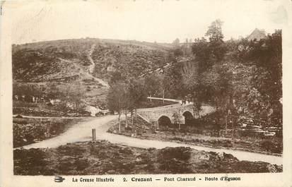 "CPA FRANCE 23 ""Crozant, pont Charaud"""