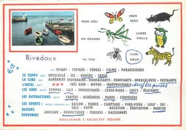 """/ CPSM FRANCE 17 """"Ile de Ré, Rivedoux """""""