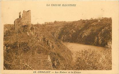 "CPA FRANCE 23 ""Crozant, les ruines"""