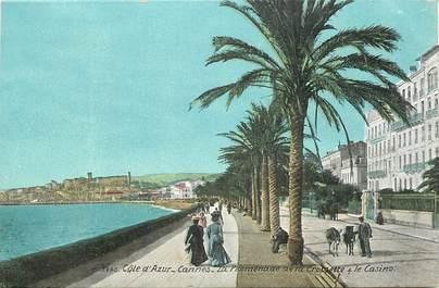 "CPA FRANCE 06 ""Cannes, la promenade de la Croisette"""