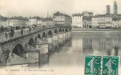 """CPA FRANCE 71 """"Mâcon, le pont Saint Laurent"""""""