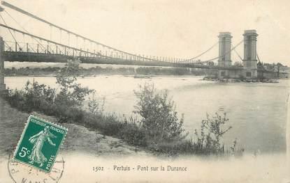 """CPA FRANCE 84 """"Pertuis, pont sur la Durance"""""""