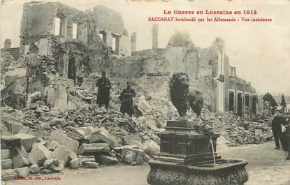"""CPA FRANCE 54 """"Baccarat, bombardé par les allemands"""""""