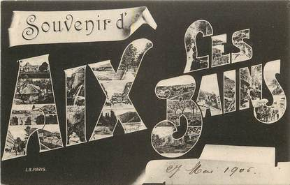 "CPA FRANCE 73 ""Souvenir d Aix les Bains"""