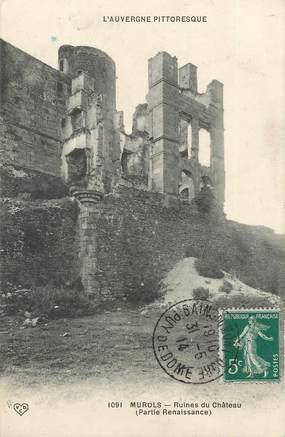 """CPA FRANCE 65 """"Murols, ruines du château"""""""