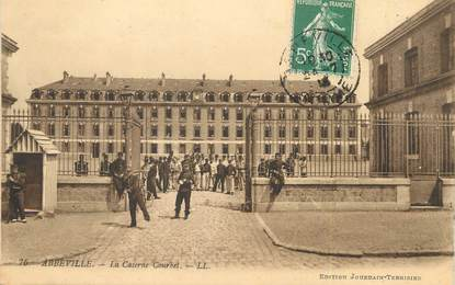 "CPA FRANCE 80 ""Abbeville, la caserne Courbet"""