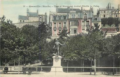 """CPA FRANCE 50 """"Granville, place et monument"""""""