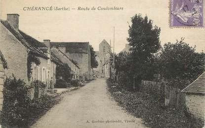 """CPA FRANCE 72 """"Chérancé, route de Coulombiers"""""""