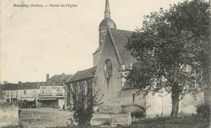 "CPA FRANCE 72 ""Beaufay, abside de l'église"""