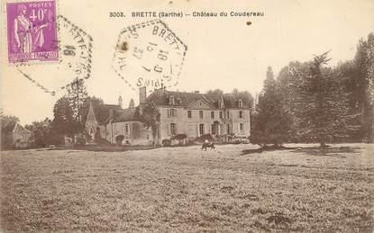 """CPA FRANCE 72 """"Brette, château du Coudereau """""""