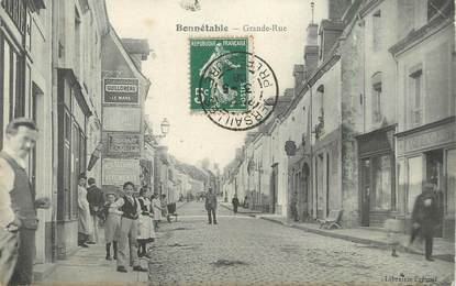 "CPA FRANCE 72 ""Bonnetable, grande rue"""