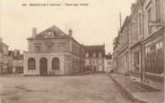 "72 Sarthe CPA FRANCE 72 ""Bonnetable, place des Halles"""