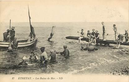 "CPA FRANCE 76 ""Etretat, les bains de mer"""