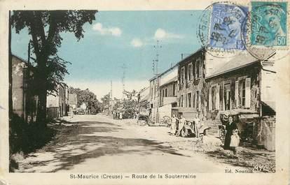 """CPA FRANCE 23 """"Saint Maurice, route de la Souterraine"""""""