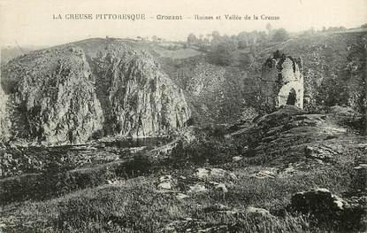 """CPA FRANCE 23 """"Crozant, ruines et vallée de la creuse"""""""