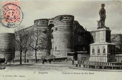 """CPA FRANCE 49 """"Angers, chateau"""""""