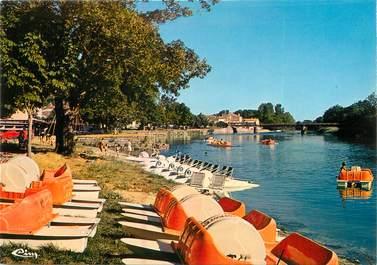 """CPSM FRANCE 17 """"Taillebourg, pédalos sur la plage de la Charente"""""""