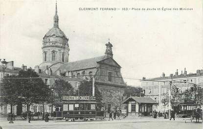 """CPA FRANCE 63 """"Clermont Ferrand, Place de Jaude, Eglise des Minimes"""""""