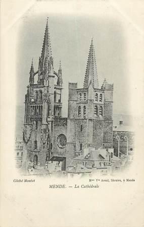 """CPA FRANCE 48 """"Mende, la cathédrale"""""""