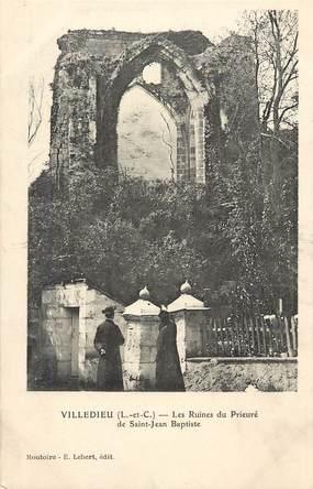 """CPA FRANCE 41 """"Villedieu, les ruines du prieuré Saint Jean Baptiste"""""""