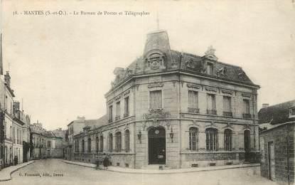 """CPA FRANCE 78 """"Mantes, le bureau de poste et télégraphe"""""""