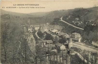 """CPA FRANCE 23 """"Aubusson, la Gare et la vallée de la creuse"""""""