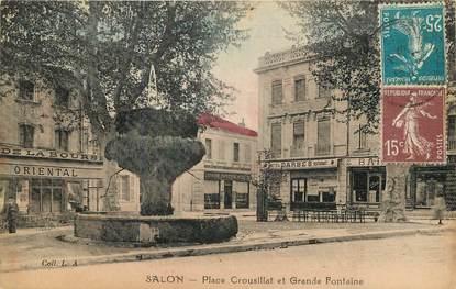 "CPA FRANCE 13 ""Salon, Place Crousillat"""
