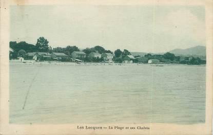 """/ CPA FRANCE 83 """"Les Lecques, la plage et ses chalets"""""""