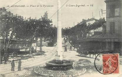 """/ CPA FRANCE 13 """"Aubagne, place de la pyramide """""""
