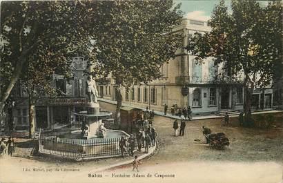 "CPA FRANCE 13 ""Salon, fontaine"""