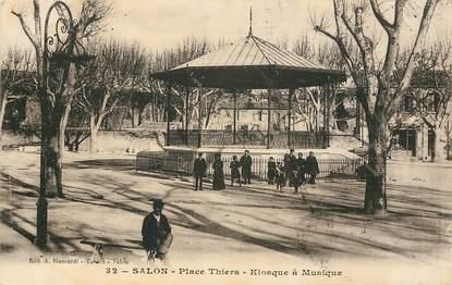"""CPA FRANCE 13 """"Salon, Place Thiers Kiosque à musique"""""""