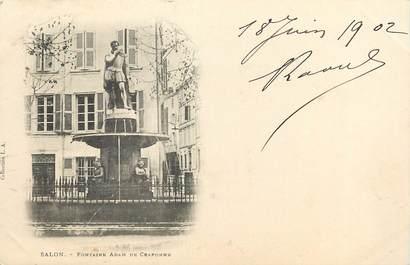 """CPA FRANCE 13 """"Salon, la fontaine"""""""