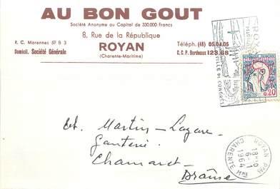"""/ CPSM FRANCE 17 """"Royan, au bon goût"""" / CARTE PUBLICITAIRE"""