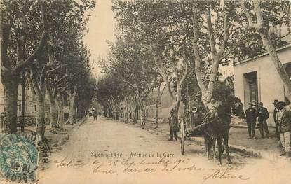 """CPA FRANCE 13 """"Salon, avenue de la gare"""" / ATTELAGE / CHEVAL"""
