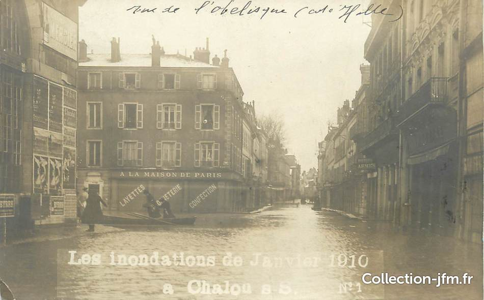 Carte photo 77 chalon sur sa ne inondations 71 for Plan de chalon sur saone 71