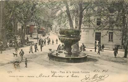 """CPA FRANCE 13 """"Salon, place de la grande fontaine"""""""