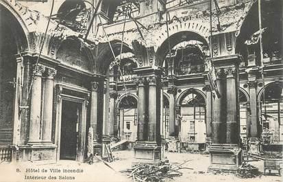 """CPA FRANCE 75 """"Paris"""" / Série La Commune 1871 """"L'Hotel de ville  incendié"""""""