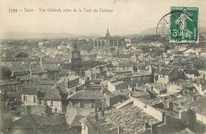 """CPA FRANCE 13 """"Salon, vue générale prise de la tour du chateau"""""""