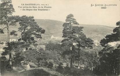 """CPA FRANCE 48 """"La Bastide, vue prise du Bois de la Pinède, Au repos des touristes"""""""