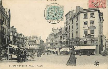 """CPA FRANCE 42 """"Saint Etienne, Place du Peuple"""""""