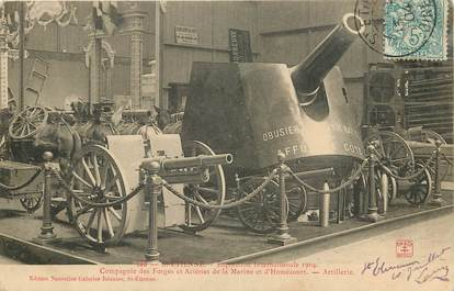 "CPA FRANCE 42 ""Saint Etienne, exposition internationale 1904, Compagnie des Forges et Aciéries de la Marine"""