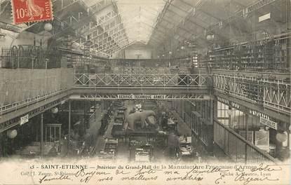 """CPA FRANCE 42 """"Saint Etienne, Intérieur du grand hall de la Manufacture Nationale d'Armes"""""""